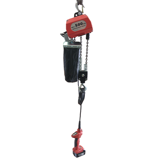 250kg or 500kg Portable Battery Hoist