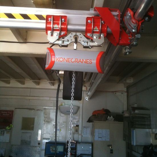 Electric chain hoist with Trac trolleys