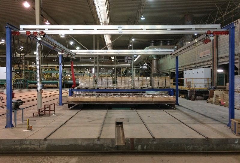 Freestanding Altrac Gantry Crane at Brikmakers in Western Australia