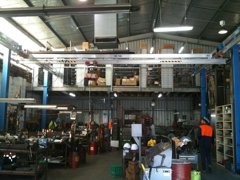 Altrac gantry with Strongbac for lifting a variety of heavy items