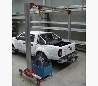 Mobile adjustable crane Mobitrac Dynamic